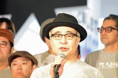 松尾スズキ+大人計画 30周年イベント「30祭(SANJUSSAI)」オープニングセレモニーの様子。松尾スズキ。