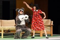 月刊「根本宗子」第16号「愛犬ポリーの死、そして家族の話」公開舞台稽古より。