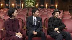 左から池田伸子、今田耕司、宮藤官九郎。(写真提供:NHK)