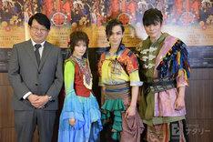 左から毛利亘宏、生駒里奈、松田凌、井俣太良。