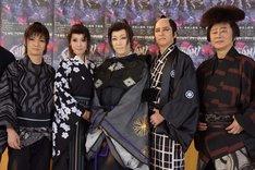 音楽活劇「SHIRANAMI」囲み取材より。