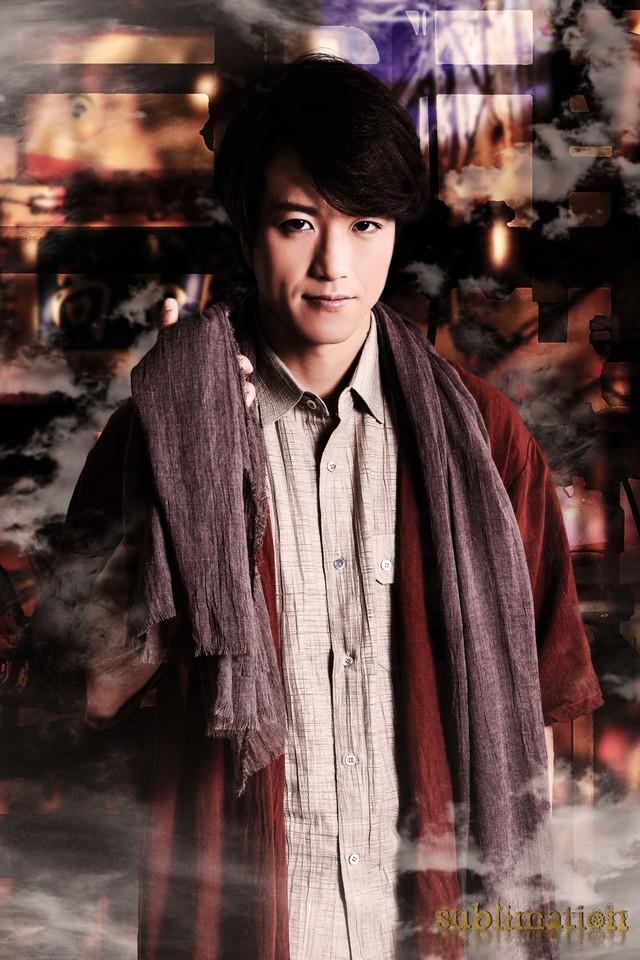 新田健太の扮装姿。