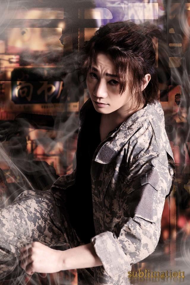 騎田悠暉の扮装姿。