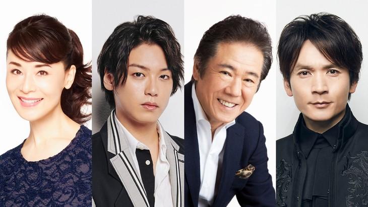 左から大地真央、高木雄也、西岡徳馬、長野博。