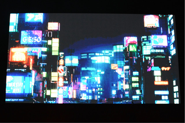 「KEREN」制作発表記者会見より、Moment Factoryが手がけた映像。
