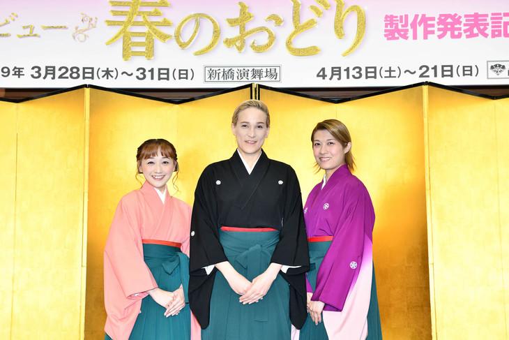 左から舞美りら、桐生麻耶、楊琳。