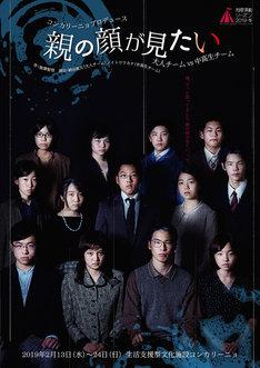札幌演劇シーズン2019-冬 コンカリーニョプロデュース「『親の顔が見たい』大人チームvs中高生チーム」チラシ表