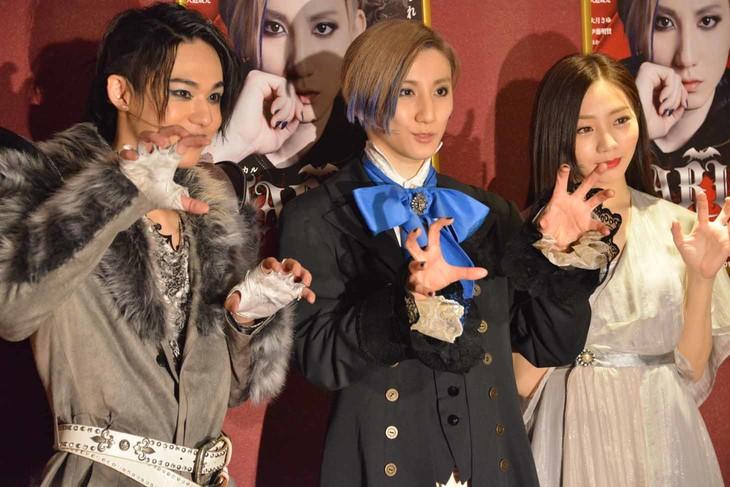 左から三浦海里、京本大我(SixTONES / ジャニーズJr.)、能條愛未。