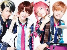 [reve parfait]のビジュアル。左から石賀和輝扮するRook、松岡卓弥扮するKing、とまん扮するBishop、竹内唯人扮するKnight。