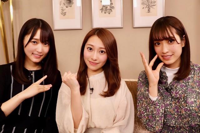 左から菅井友香(欅坂46)、桜井玲香(乃木坂46)、佐々木久美(日向坂46)。(提供:NHK)