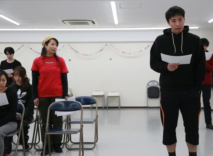 遊劇舞台二月病 第習回公演「shadow」稽古より。