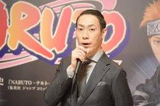 新作歌舞伎「NARUTO-ナルト-」製作発表より、坂東巳之助。