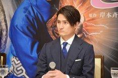 新作歌舞伎「NARUTO-ナルト-」製作発表より、中村隼人。