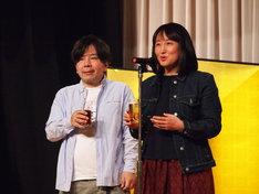 左から宮沢章夫、柳美里。
