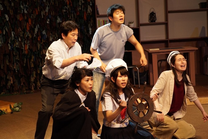 NAVI LOFTクリエイション企画(2)「りら、りらら、」舞台稽古の様子。