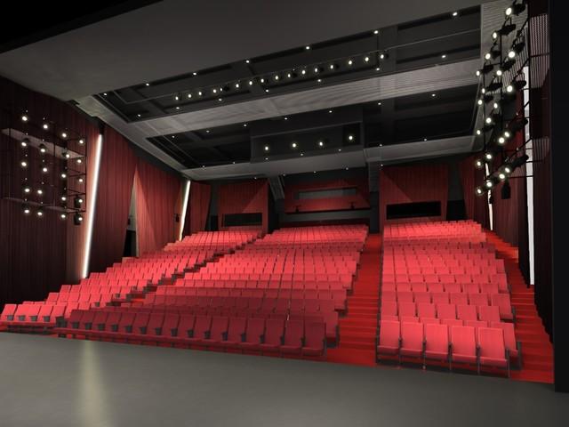 新生パルコ劇場の客席イメージ。(c)2019 Takenaka Corporation
