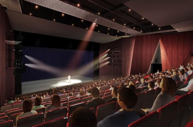 新生パルコ劇場の場内イメージ。(c)2019 Takenaka Corporation