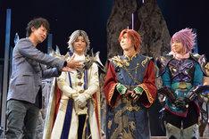 左から今泉潤、中村誠治郎、三浦海里、橘龍丸。