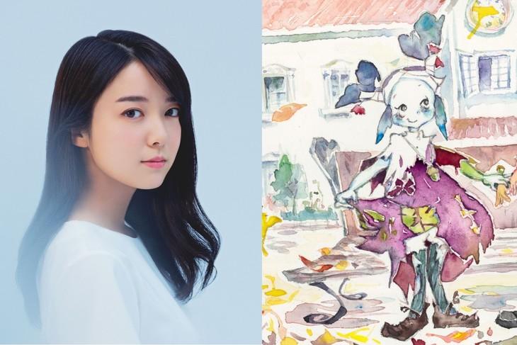 左から上白石萌音、ノノのイメージイラスト。(イラスト:柴山恵理子)