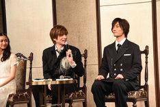 ミュージカル「ファントム」製作発表会見より、左から木下晴香、城田優、加藤和樹。