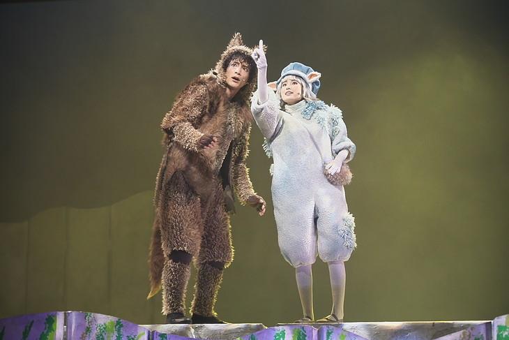 日生劇場ファミリーフェスティヴァル2019 音楽劇「あらしのよるに」より。(撮影:青木司)