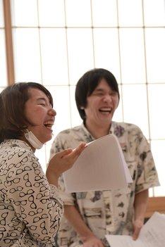 天ぷら銀河「雪女を撃て!~死んだら死んだで問題ない~」稽古場より。