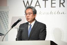 「WATERS takeshiba」プロジェクト発表会より。四季株式会社(劇団四季)の吉田智誉樹代表取締役社長。