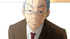 柳原朔太郎。現役最年長でA級に在位する実力者。アニメでは大塚芳忠が演じている。