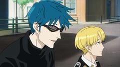 アニメ「ACCA13区監察課」第2話より、ニーノとジーン。