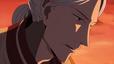 アニメ「ACCA13区監察課」第6話より。ジーンの言葉に、1人「…甘いな」と零すグロッシュラー。