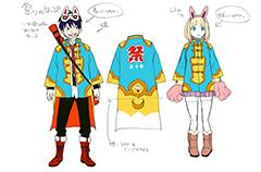 加藤和恵によるキャラクター衣装設定画