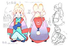 加藤和恵によるうさ麻呂のキャラクター設定画