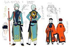 加藤和恵によるリュウ・セイリュウのキャラクター設定画