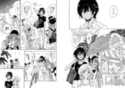 「ショートケーキと加瀬さん。」より。山田、加瀬さん、三河の3人はプールに遊びに行く。