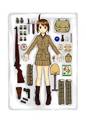 突撃兵となった綾子の装備。