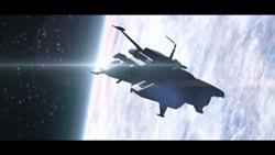 「彼方のアストラ」の場面カット。カナタたちは偶然発見した宇宙船・アストラ号で旅をすることになる。