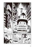 「バビル2世 《オリジナル版》」1巻より。東京の街で、ヨミの部下を追いかけるバビル2世。