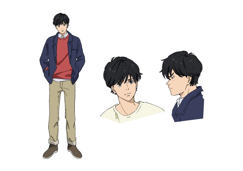 アニメ「BANANA FISH」より、奥村英二のキャラクター設定画。