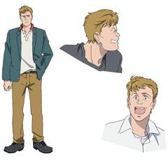 アニメ「BANANA FISH」より、マックス・ロボのキャラクター設定画。
