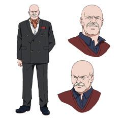 アニメ「BANANA FISH」より、ディノ・ゴルツィネのキャラクター設定画。