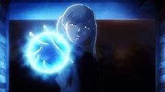 アニメ第7話より。初対面のアスタに魔力の差を見せつけようとするノエル。