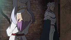 アニメ第4話より。魔法騎士団の入団試験の最中、言葉を交わすノエルとノゼル。