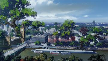 「BURN THE WITCH」PVより、リバース・ロンドンの風景。