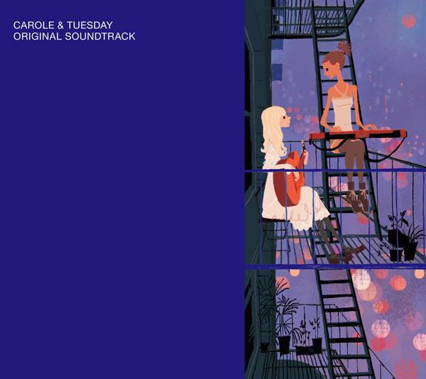 上杉忠弘による「TVアニメ『キャロル&チューズデイ』ORIGINAL SOUND TRACK」ジャケット。