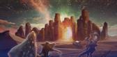 3で舞台の1つとなる砂漠の湖都のイメージ。
