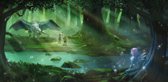 3で舞台の1つとなる精霊島のイメージ。