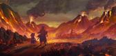 3で舞台の1つとなる炎の九領のイメージ。