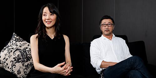 田中敦子と大塚明夫。