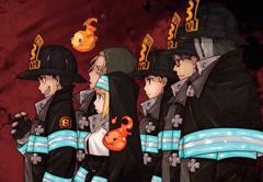 第8特殊消防隊のメンバー。