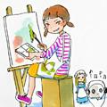 今日マチ子「ガールズ美術」。